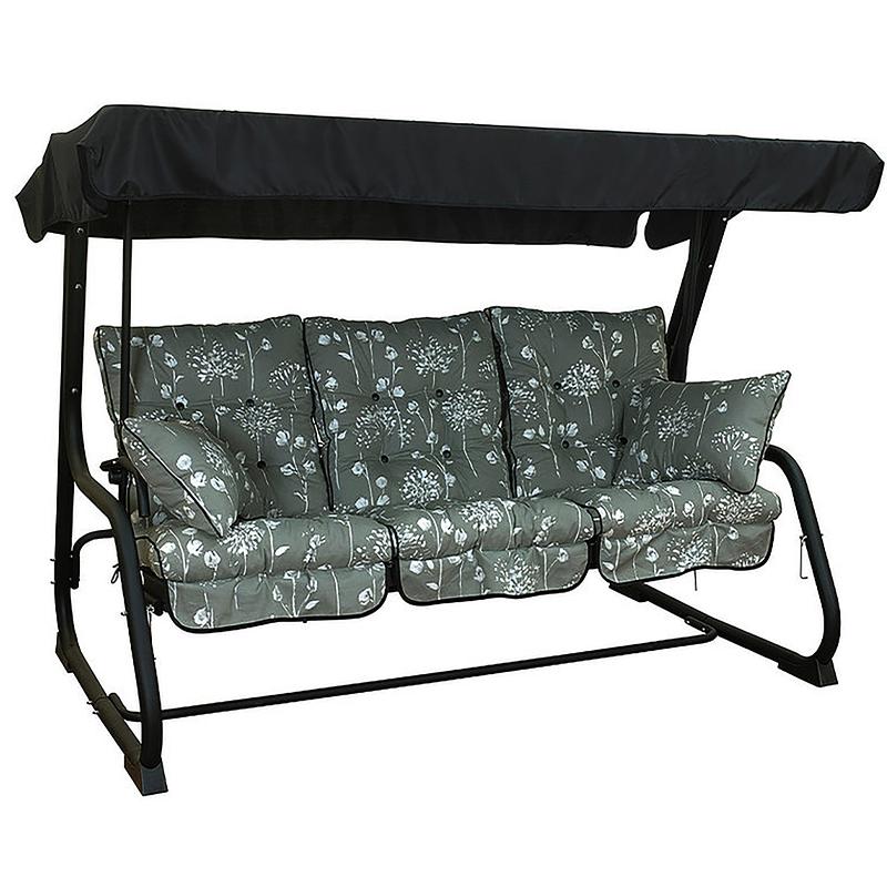 Grey hammock with cushions