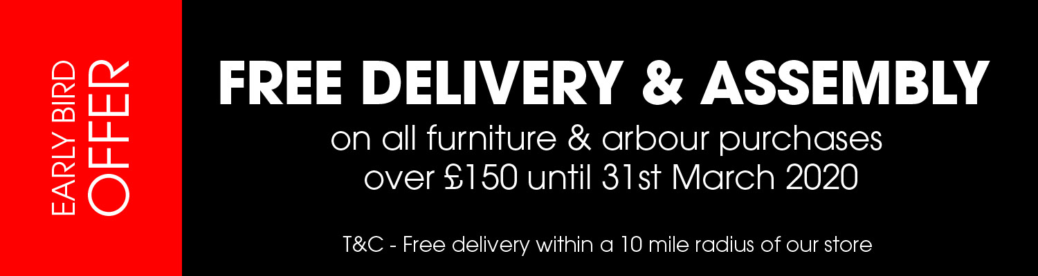 Free Delivery & Assembly on all furniture orders over £150